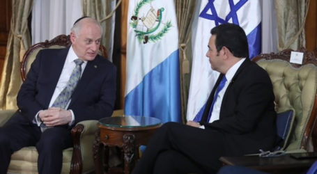 Jewish, Christian Leaders Visit President Jimmy Morales  to Affirm Guatemala's 'Courageous Act' on Jerusalem