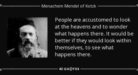 Gems of Wisdom from the Kotzker Rebbe