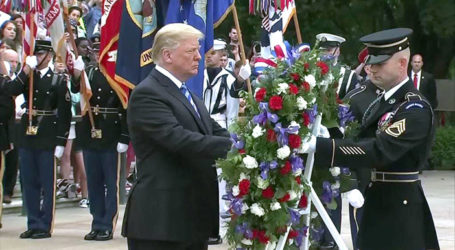 Trump Honors US War Dead on Memorial Day; Flags Honor the Fallen at Arlington