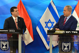 Paraguay President Horacio Cartes &  Netanyahu attend opening ceremony for new embassy in J'lem