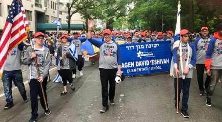 "5th Avenue Transforms into Sea of ""Blue & White"" as Tens of Thousands Celebrate Israel's 70th Birthday"
