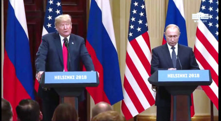 "Trump Hails ""Great Summit"" with Putin –  Both Express Support for Israel"
