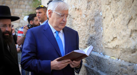White House Stands By Ambassador to Israel David Friedman