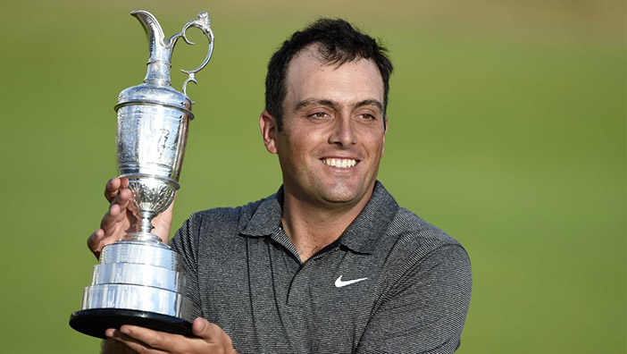 Italian Francesco Molinari wins The Open Championship, holding off Tiger Woods