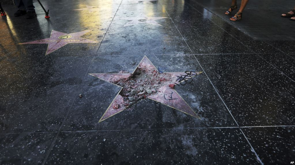 Trump´s Hollywood Walk of Fame star destroyed