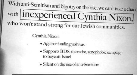 NY Dems Denounce Flier Accusing Cynthia Nixon of Anti-Semitism