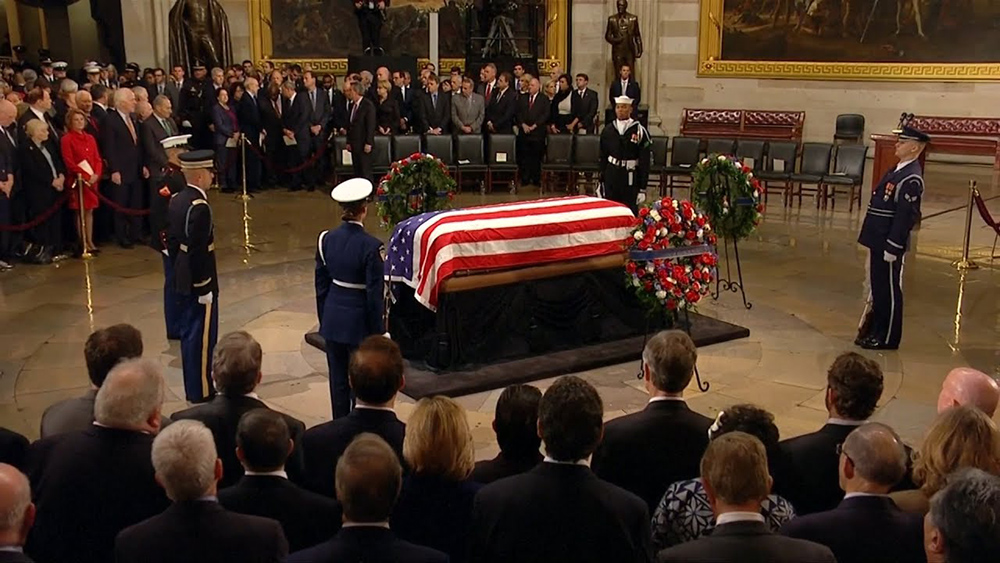 Americans pay respects to late President Bush at US Capitol