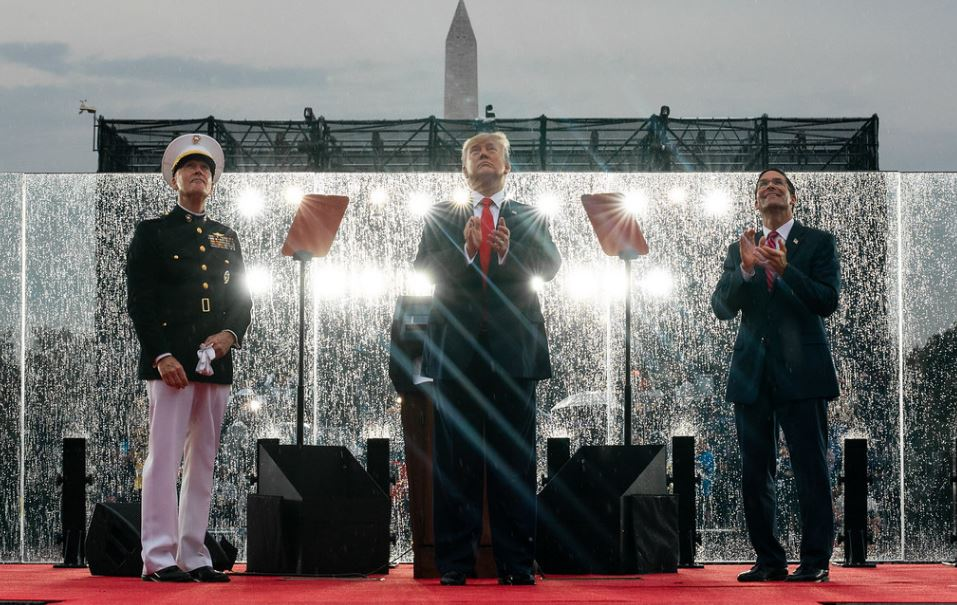 Trump Presents 'Show of a Lifetime' to Celebrate
