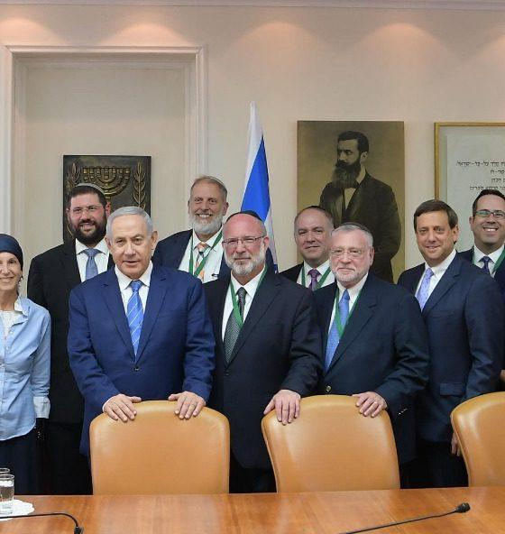 Netanyahu with OU Rabbis photo credit: Amos Ben-Gershom (GPO)