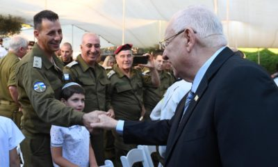 President Rivlin presented certificates of excellence IDF outstanding reserve units photo credit Mark Neiman GPO