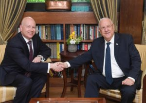 President Rivlin with Jason Greenblatt photo credit Mark Neiman GPO