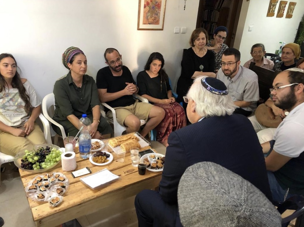 "Ambassador David Friedman Makes Shiva Call to Family of Slain Israeli Youth Dvir Sorek HY""D"