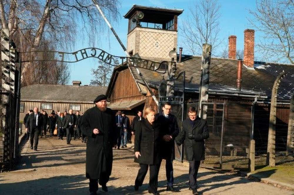 Angela Merkel announces $60m donation to Auschwitz museum