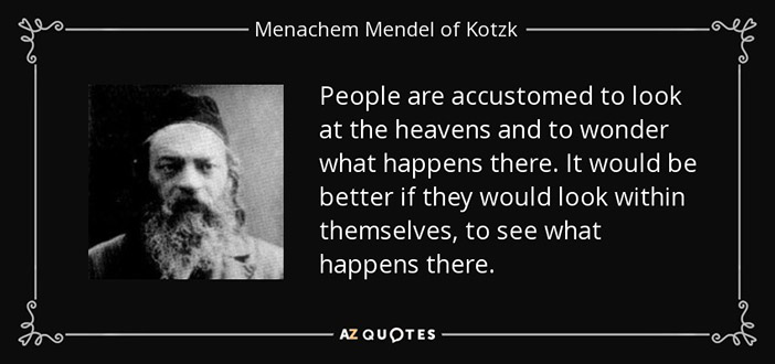 Gems of Wisdom from the Kotzker Rebbe - The Jewish Voice