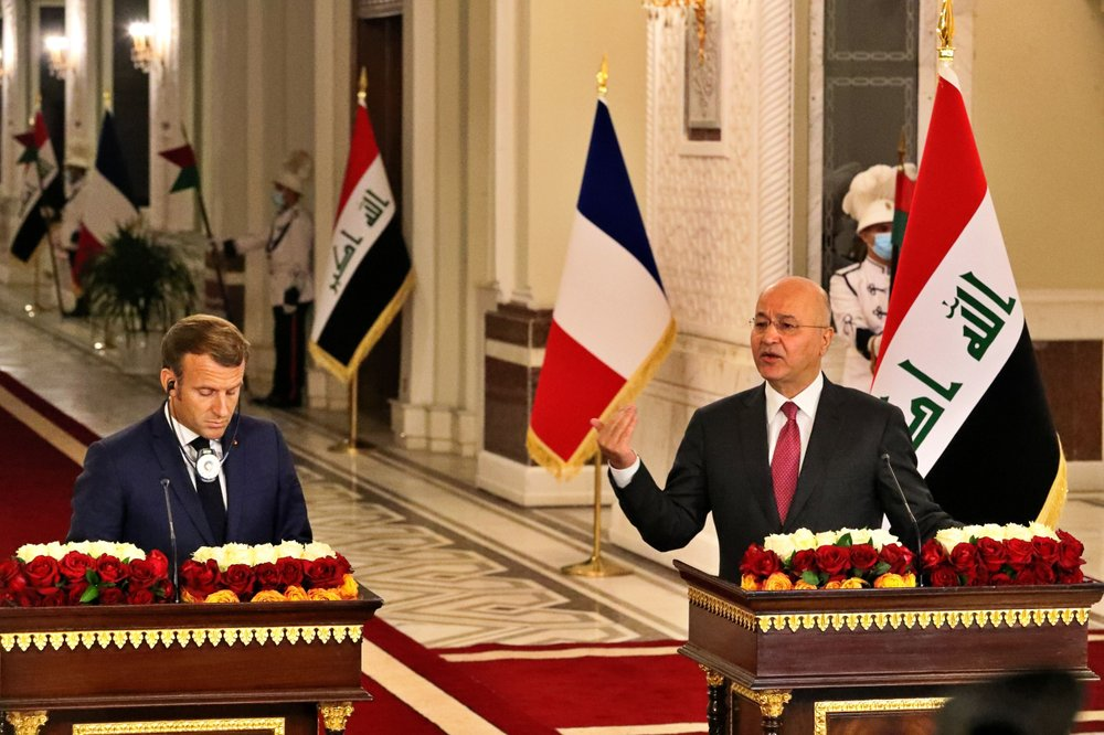 Macron in Baghdad on first official visit